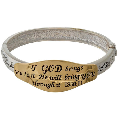 He Will Bring You Through Bracelet