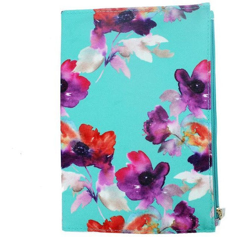Floral Canvas Zippered Journal