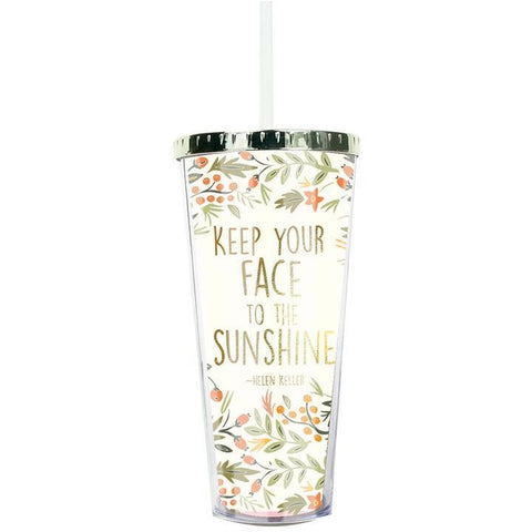 Sunshine Gold Lid Straw Tumbler