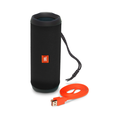 JBL Flip 4 Waterproof Portable Bluetooth Speaker - Black JBLFLIP4BLKAM