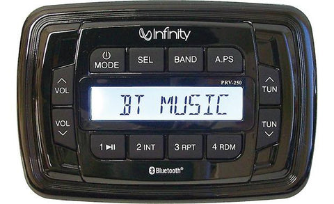 Infinity INF-PRV250 - Marine digital media receiver with built-in Bluetooth®