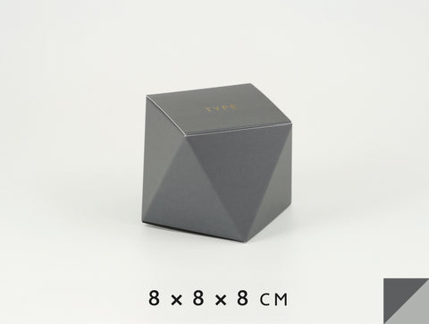 Personalized gift boxes, personalised favour boxes, luxury gift boxes, geo box – Dark Gray & Light Gray