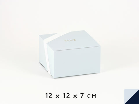 Personalised gift boxes, personalized favor boxes, custom gift boxes, square – Powder Blue & Navy