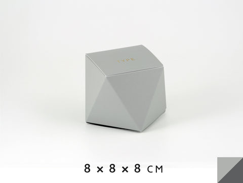 Personalized gift boxes, personalised favour boxes, luxury gift boxes, geo box – Light Gray & Anthracite