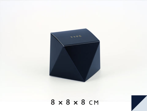 Personalised gift boxes, personalized favor boxes, custom gift boxes, geo box – Navy Blue