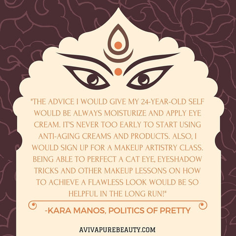 Kara Manos beauty quote