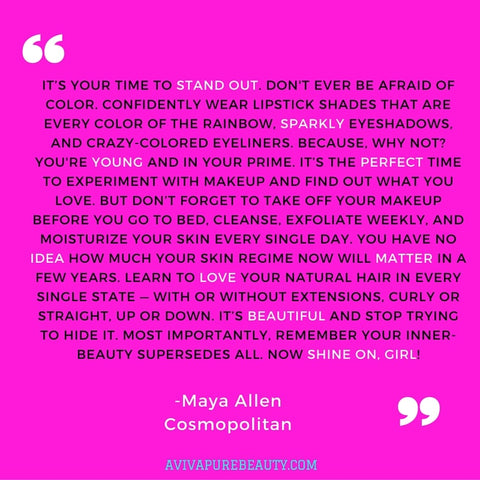 Maya Allen Beauty Quote