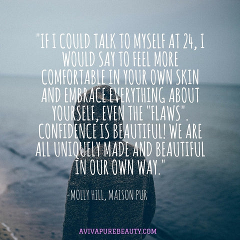 Molly Hill beauty quote