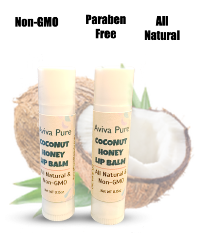 Aviva Pure -Organic Coconut Honey Lip Balm for Dry Lips