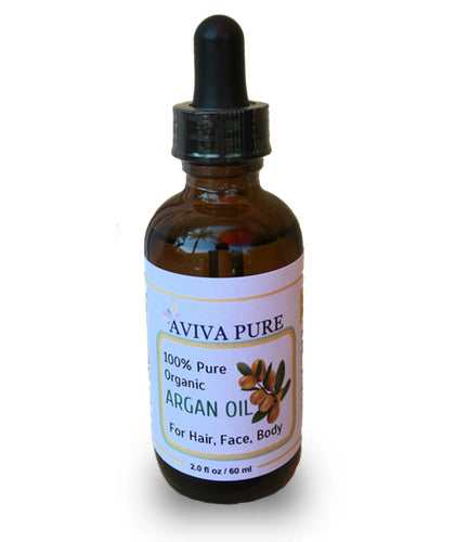 Aviva Pure Organic Pure Moroccan Argan Oil for Hair and Face