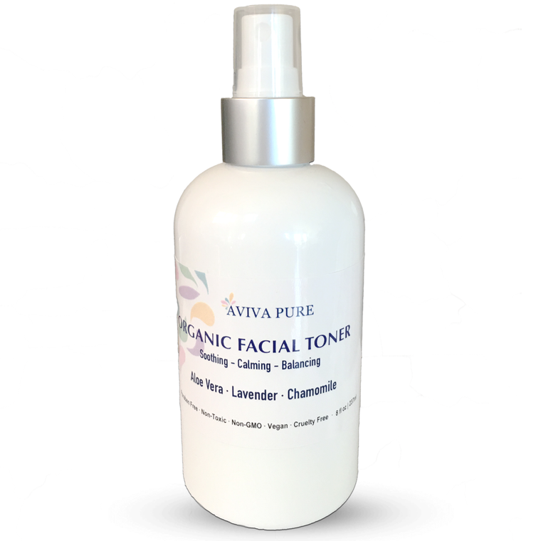Organic Facial Toner by Aviva Pure - With Calming Aloe Vera, Chamomile, Lavender