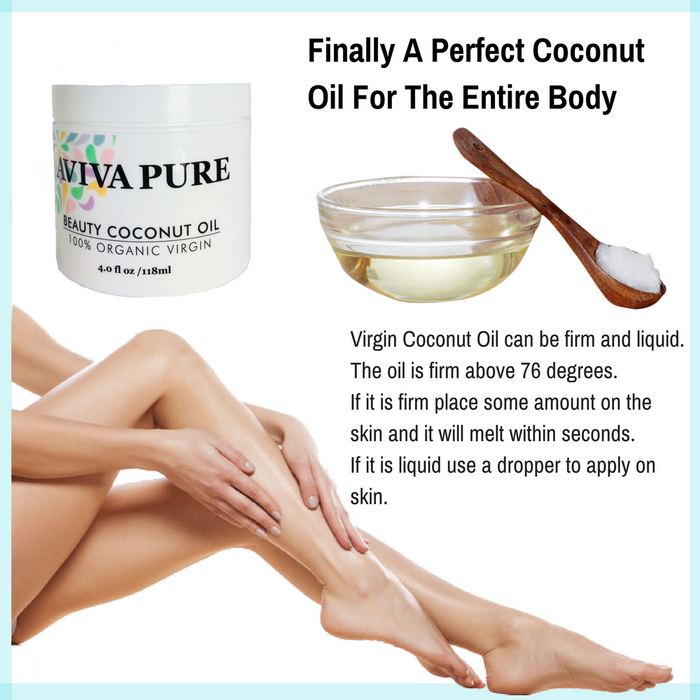 organic coconut oil aviva pure for the body, for soft skin, face moisturizer, body moisturizer oil,