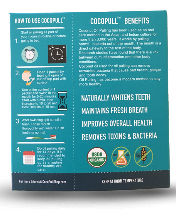 Cocopull™ Oil Pulling for White Teeth, Fresh Breath and Healthy Gums - Aviva Pure