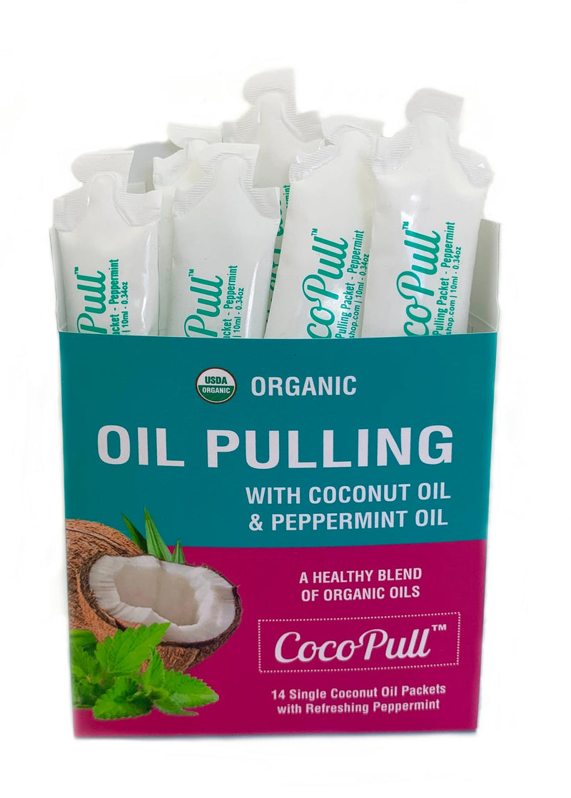 cocopull oilpulling with coconut oil and peppermint oil