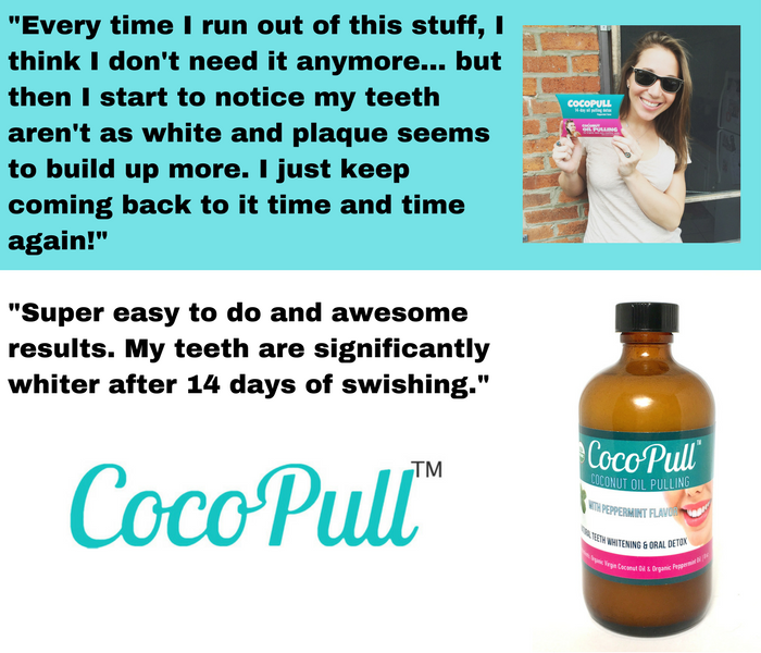 Cocopull™- Coconut Oil Pulling for Healthy, Clean Teeth and Mouth - 4oz Glass Bottle - Aviva Pure