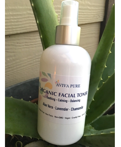 Organic Facial Toner by Aviva Pure - With Calming Aloe Vera and Chamomile - Aviva Pure