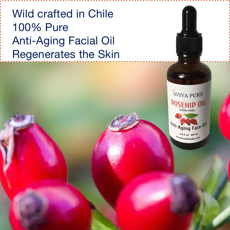 pure natural rosehip oil for fine lines, stretch marks and wrinkles
