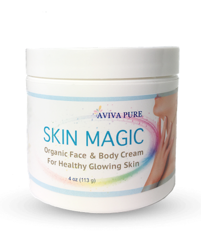 Organic Aloe Vera Face Cream and Body Moisturizer Fragrance Free - Dry Mature Skin - Aviva Pure