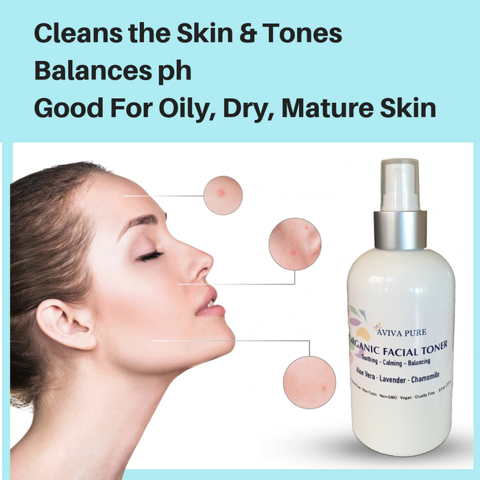 organic facial toner with aloe vera lavender and chamomile