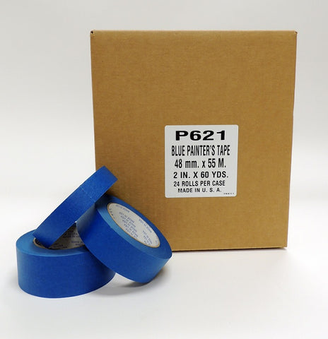 "Blue Painters Tape (2"" x 60 Yards - 24 Rolls/Case)"