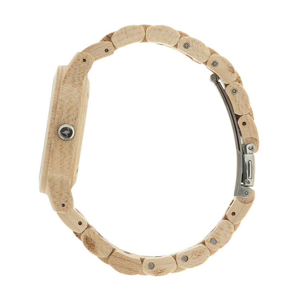 Wood strap correa de madera intercambiable breef watches for Madera maple