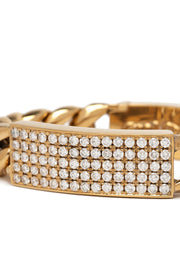 CLASSIC I.D. BRACELET, 22K W/WHITE DIAMONDS