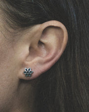 Rosette Cutout Stud Earrings