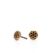 Rosette Stud Earrings, 6mm