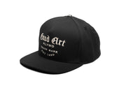 Black High Crown Snapback Cap