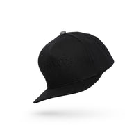 All Black High Crown Snapback Cap