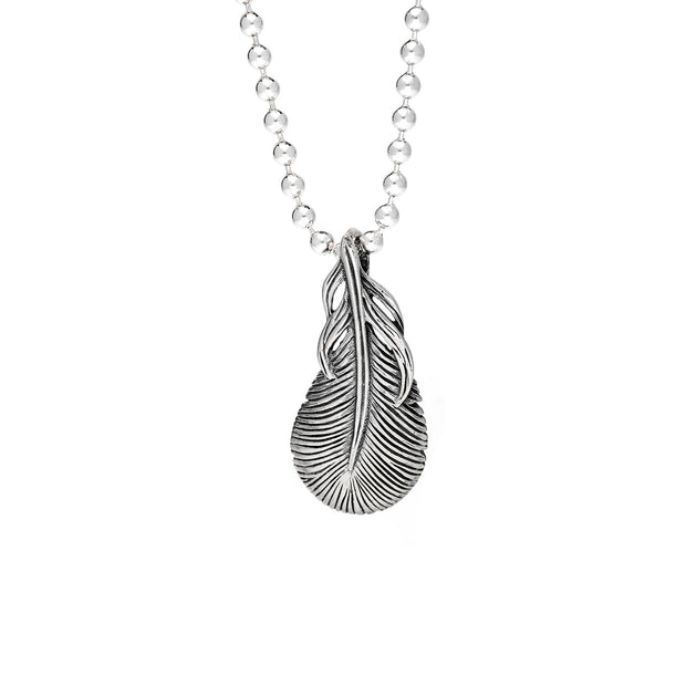 Feather Pendant, Sterling