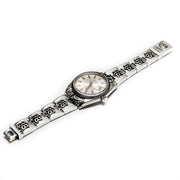 Rolex Datejust - Swiss link watch band w/ cutout Rosette