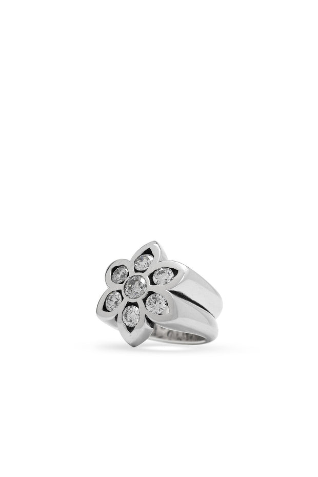 Model 28 Ring, Small with White Diamonds