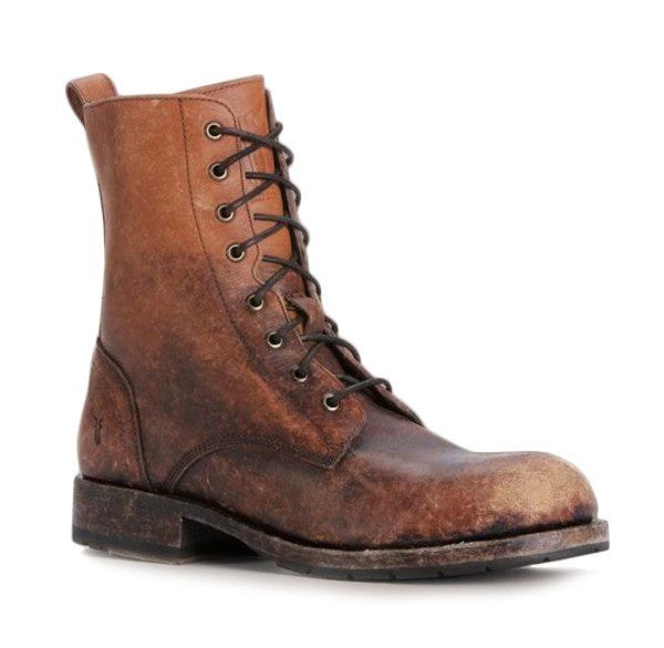 c239a7f1098 FRYE Men's Rogan Tall Lace-Up Boot, Stone Washed Leather