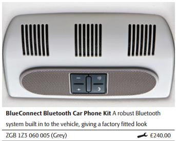 Genuine Skoda Bluetooth kit ZGB1Z3060005