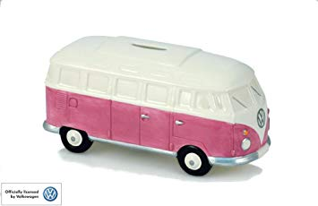 Genuine VW Camper Van money box in Pink