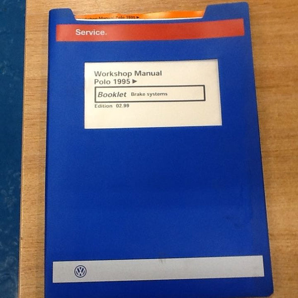 USED Genuine VW Workshop manual from a dealership Polo 95< Brake Systems
