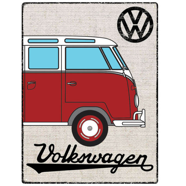 Genuine VW Officially Licensed Metal sign in red