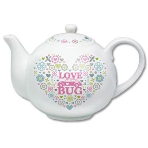 Genuine VW Beetle tea pot Love Bug design in presentation box
