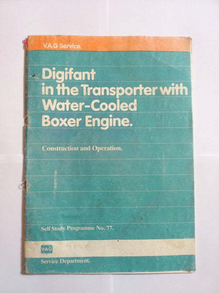 USED Genuine VW Digifant in the Transporter with water-cooled boxer engine Self Study programme 77