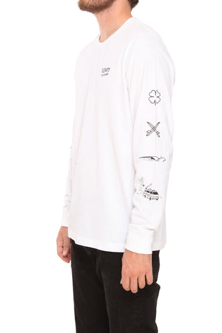 Juliano Unisex Long Sleeve Unisex - WHITE