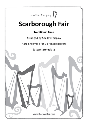 Scarborough Fair - Harp Ensemble Digital Sheet Music