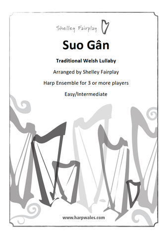 Suo Gan - Traditional Welsh Harp Ensemble Sheet Music