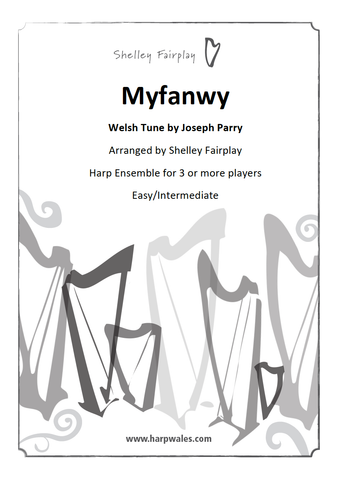 Myfanwy - Traditional Welsh Tune arrange for Harp Ensemble