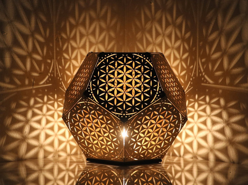 Flower of Life Dodecahedron Table Light