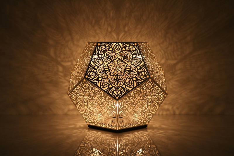Dillon Forte Dodecahedron Table Light - Silver