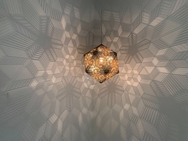 Escher Pendant Light - Gold
