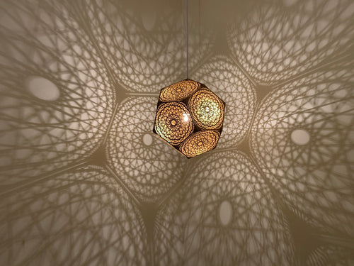 DotsToLines Pendant Light -Large - Gold