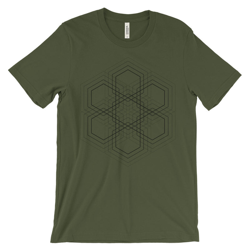 Hexagon Grid T-Shirt - Black Print