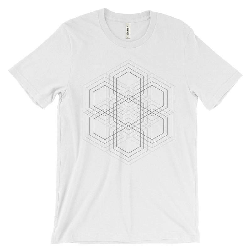 Hexagon Grid T-Shirt - Grey Print